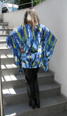 Bluza Bella, albastru cu verde [3]