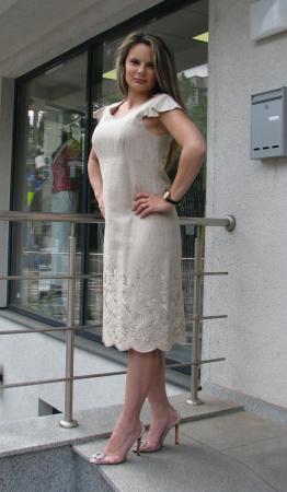 Rochie Iulia, broderie ton in ton [1]