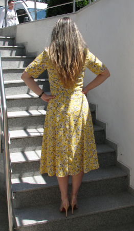 Rochie Olguta, galben cu flori [3]
