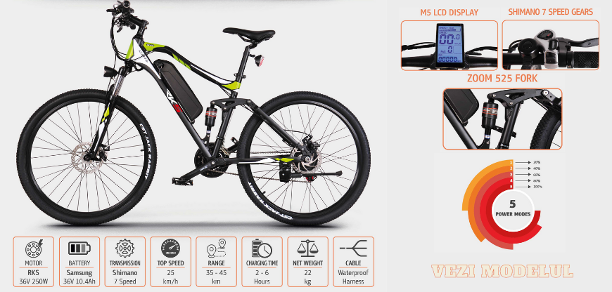 Bicicleta electrice MTB CD-15