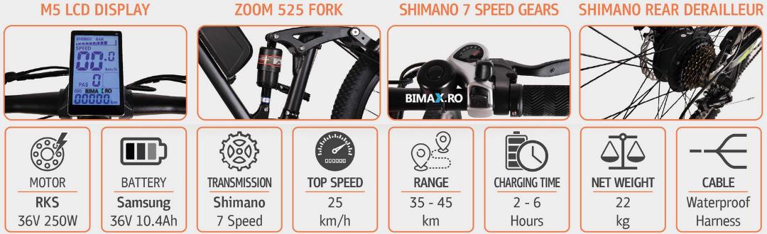 bicicleta electrica cd15 rks