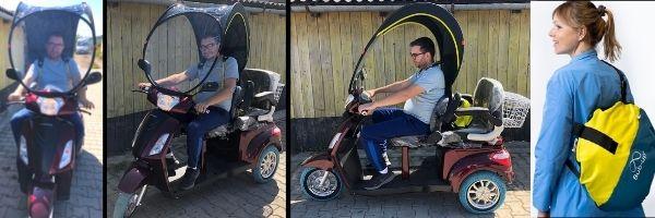 cabina prelata ploaie tricicleta electrica