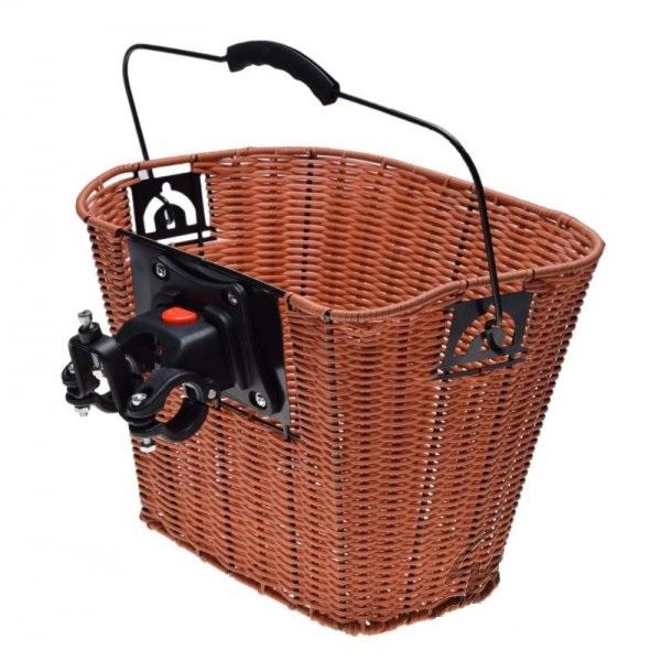 Cos bicicleta fata ghidon, Clip-On, culoare maro [1]