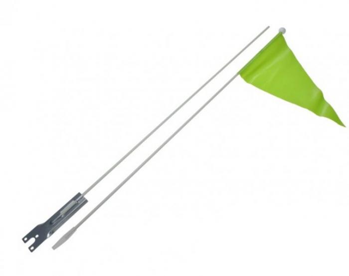 Steag moto siguranta vizibilitate (Verde) [0]