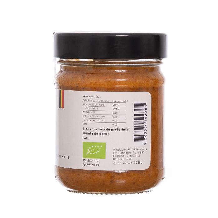 Biocream - cremă tartinabilă din cătină cu cremă de miere, pulbere de cătină, mentă, ghimbir, și propolis [2]