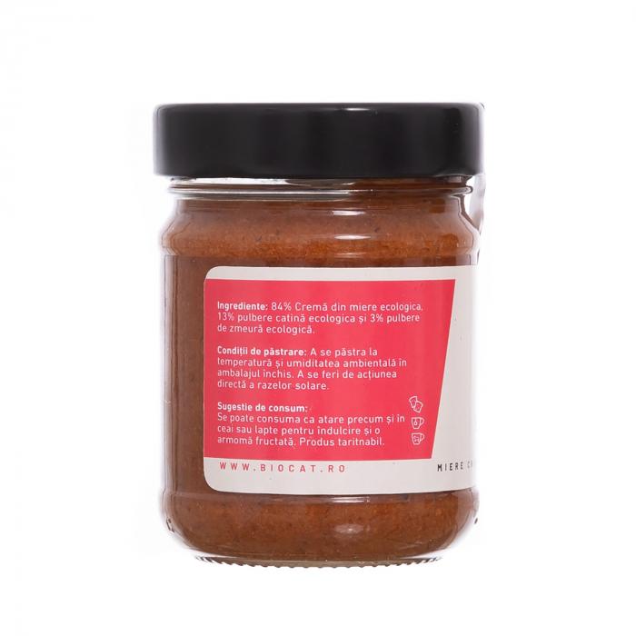 Biocream - cremă tartinabilă cu pulbere de cătină, cremă de miere, pulbere de zmeura, 220 gr [1]