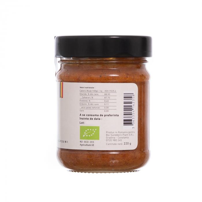 Biocream - cremă tartinabilă din miere, căpsuni și pulbere de cătină,  220 gr [2]