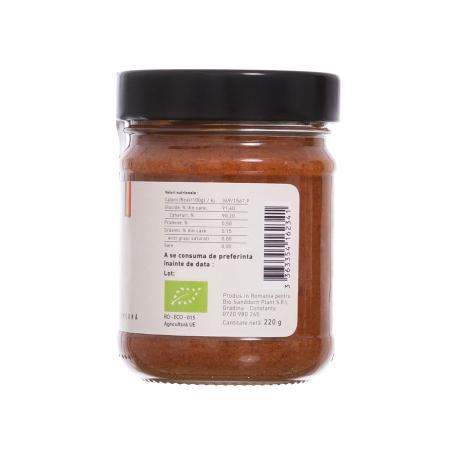 Biocream - cremă tartinabilă cu pulbere de cătină, cremă de miere, pulbere de zmeura, 220 gr [2]