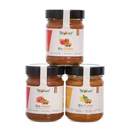 Biocream - cremă tartinabilă din miere, căpsuni și pulbere de cătină,  220 gr [4]