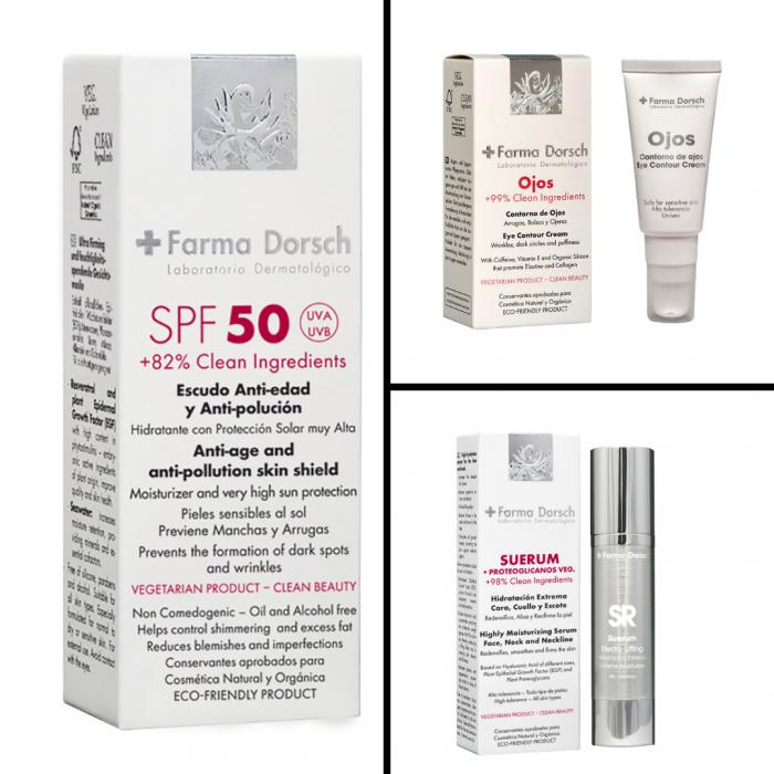 Cremă anti-age hidratantă SPF 50 ADN + Ser anti-age hidratant cu acid hialuronic și regenerare celulară extremă+ Cremă pentru conturul ochilor cu factor de creștere epitelială [0]