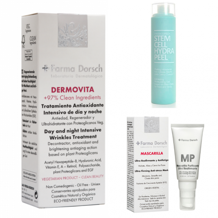 Cremă antiage regeneratoare Dermo Vita + Peeling hidratant Hydra Peel + Mască purificatoare pentru fermitate [0]