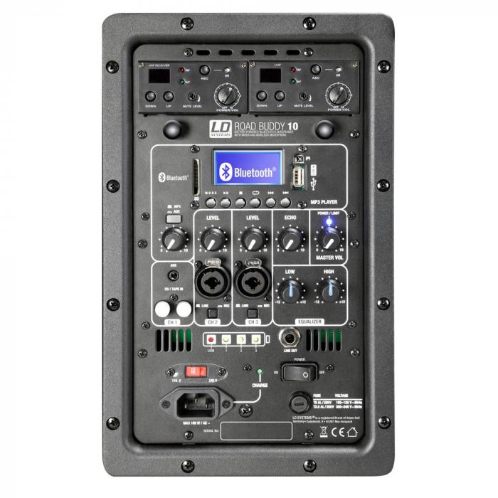 LDRBUD10HBH2B6 - Boxă portabilă cu Bluetooth și set de 2 microfoane wireless [5]