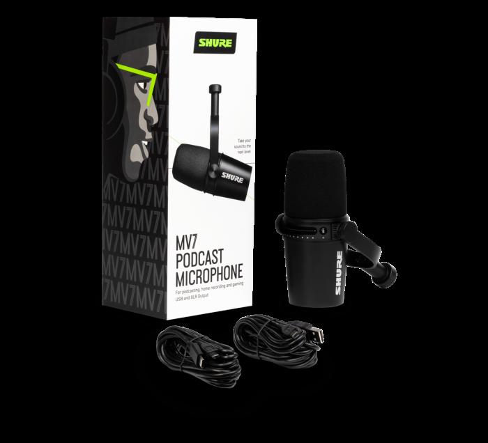 MV7-K - Microfon USB/XLR pentru Podcast (Negru) [6]