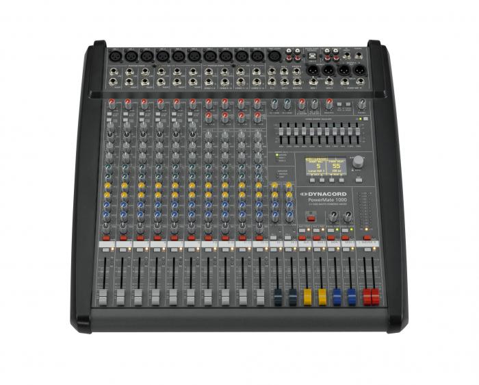 PowerMate 1000 3 - Mixer analogic cu putere incorporata [1]