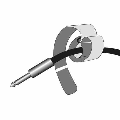 VR 2530 RED - Curea prindere cablu 300 x 25 mm - ROȘU [1]