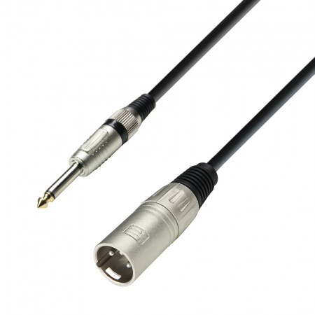 K3 MMP 0300 - Cablu microfon cu conectori JACK 6.3mm mono / XLR tata 3p AH - 3m [0]
