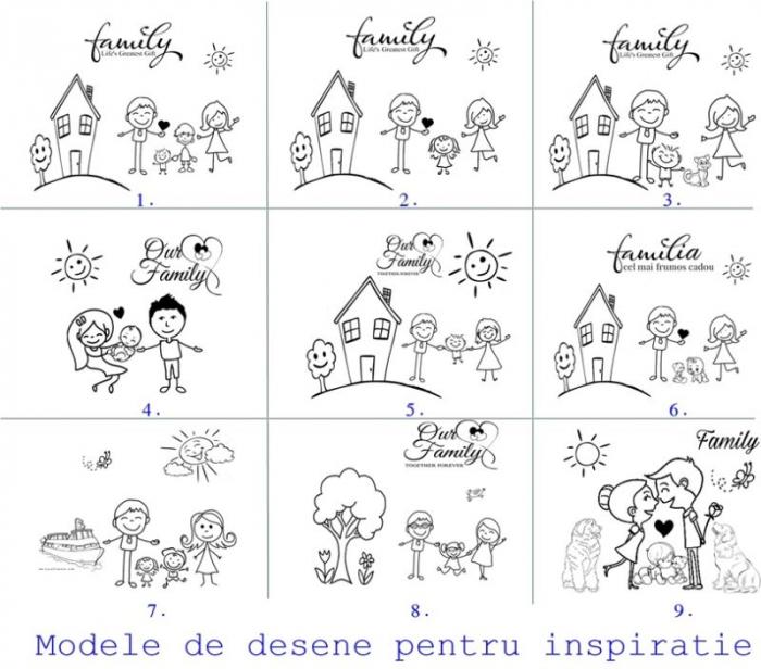 Breloc din inox cu mesaj, Family [1]