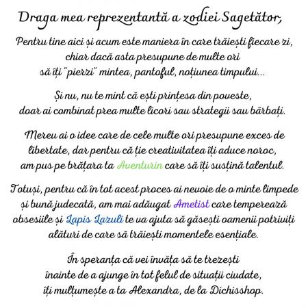 Sagetator - Lumanare Parfumata Si Bratara Semipretioasa - Pachet Cadou Zodie [1]