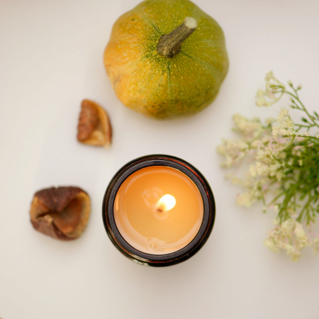 lumanare parfumata pere si frezie bratara pietre semipretioase Lumina sufletului [4]