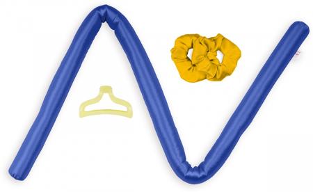Set Ondulator de par DivineCurls, BLUE, fara cristale [1]