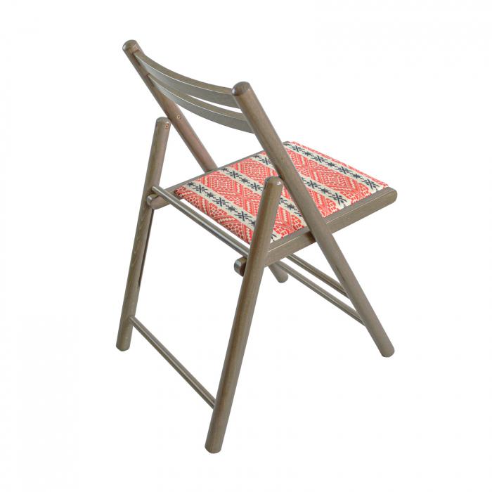 Scaun pliant din lemn Igor RO tapitat maro-trufa [1]