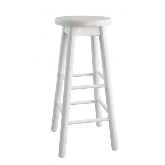 Scaun din lemn BAR alb [0]