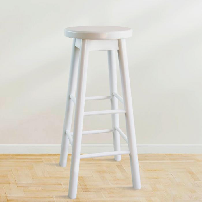 Scaun din lemn BAR alb [4]