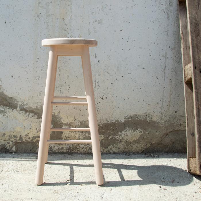 Scaun din lemn BAR crud [3]