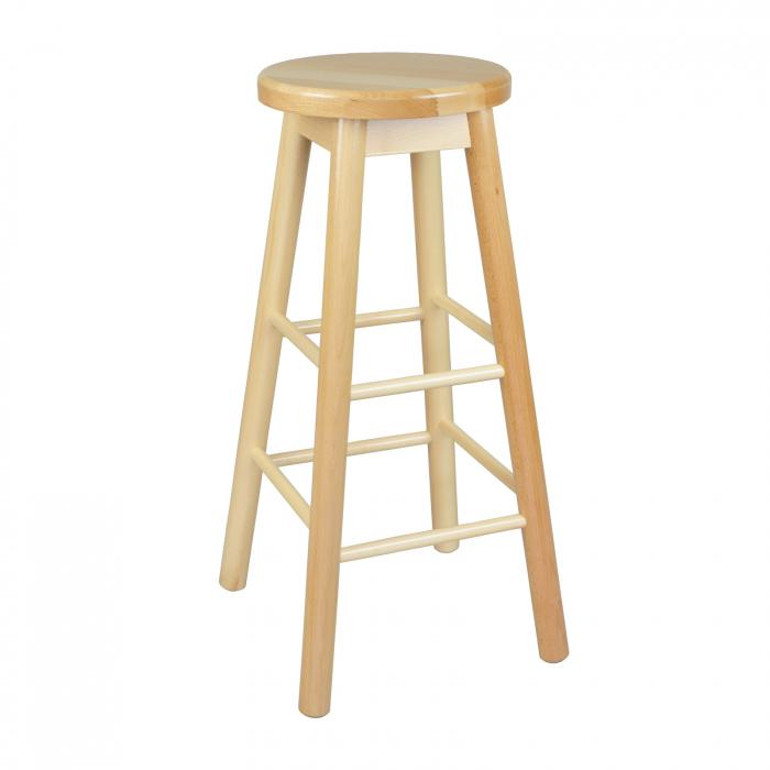 Scaun din lemn BAR natur [0]