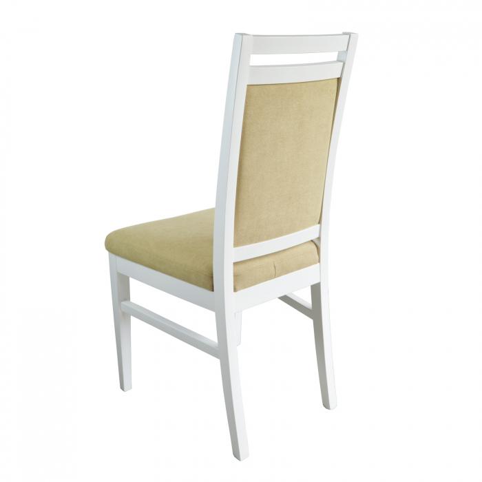 Scaun din lemn Jane tapitat alb [2]