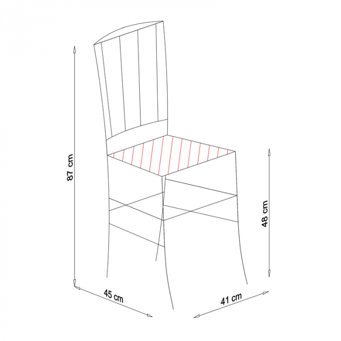 Scaun din lemn Madeira tapitat alb [10]