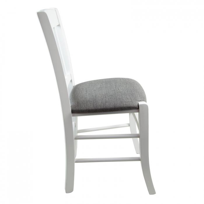 Scaun din lemn Madeira tapitat alb [1]