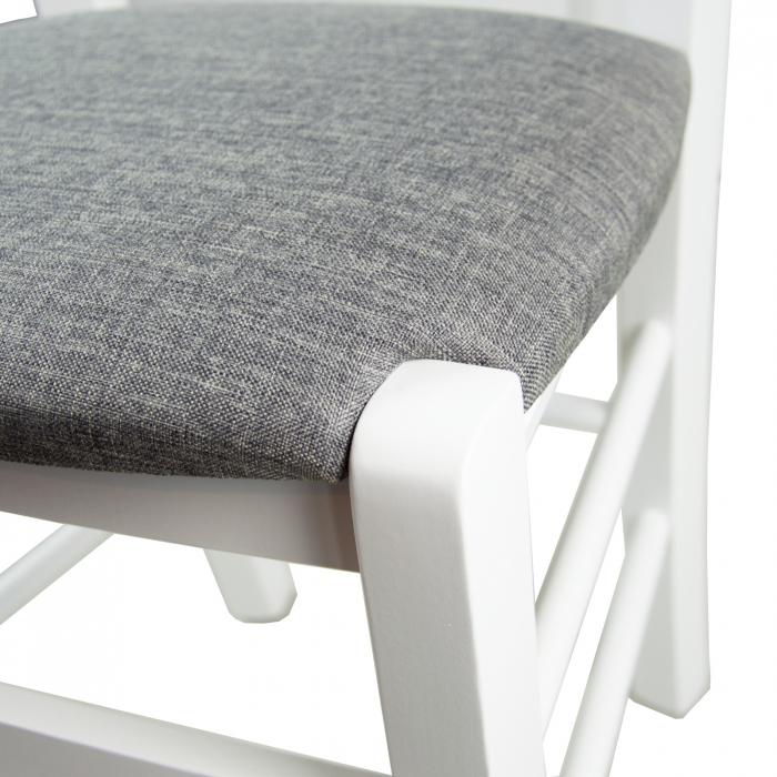 Scaun din lemn Madeira tapitat alb [9]