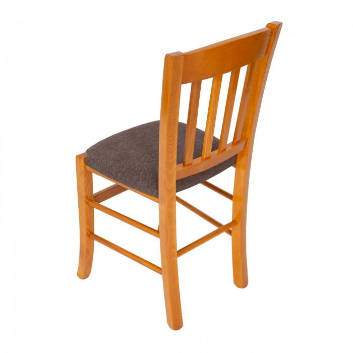 Scaun din lemn Madeira tapitat cires [4]