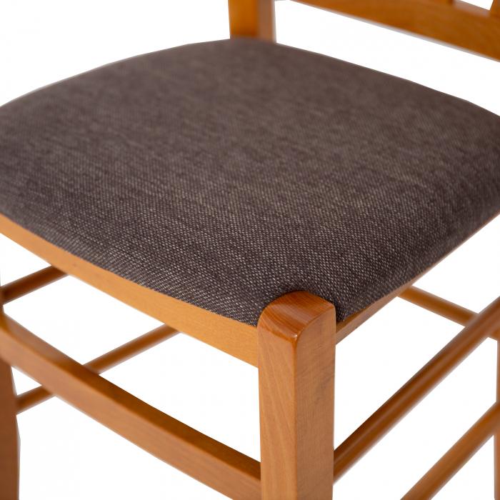Scaun din lemn Madeira tapitat cires [7]