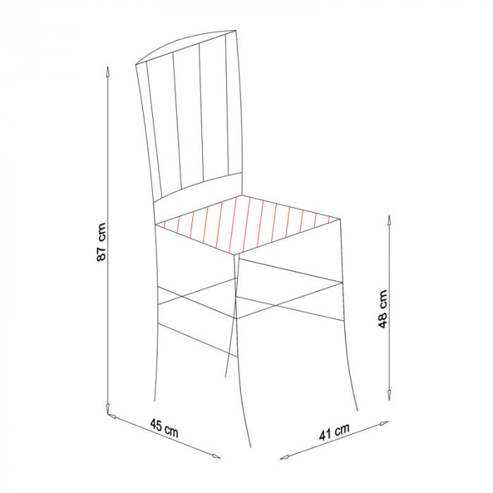 Scaun din lemn Madeira tapitat cires [8]