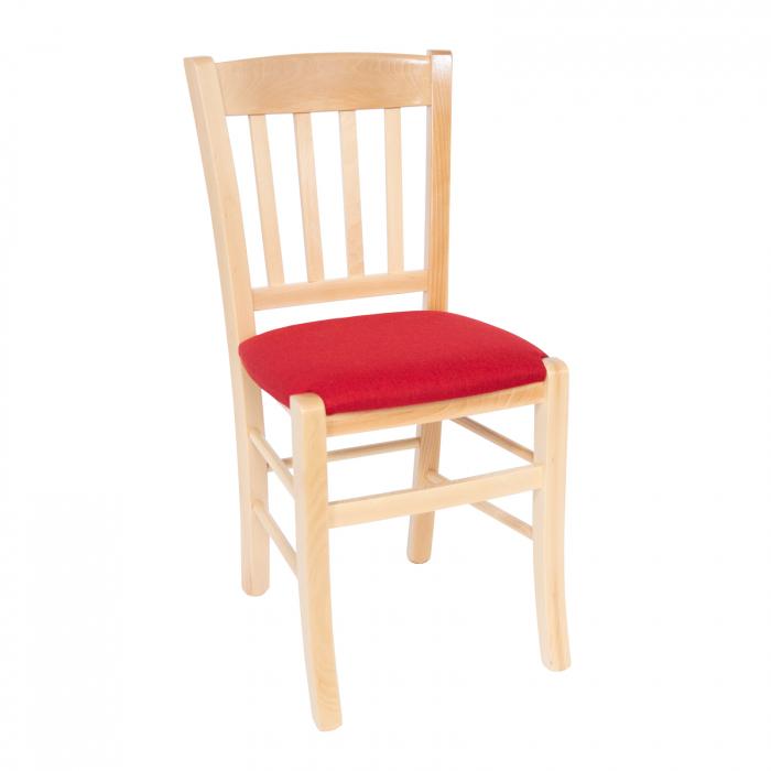 Scaun din lemn Madeira tapitat natur [0]