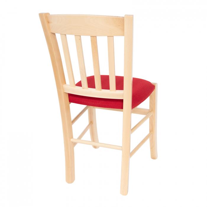 Scaun din lemn Madeira tapitat natur [2]
