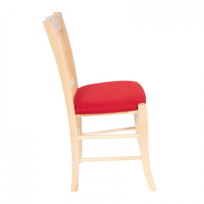 Scaun din lemn Madeira tapitat natur [1]