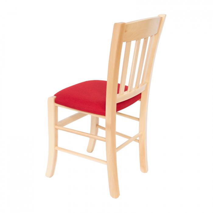 Scaun din lemn Madeira tapitat natur [4]
