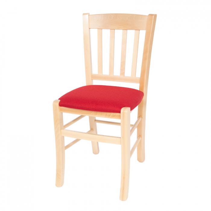 Scaun din lemn Madeira tapitat natur [6]