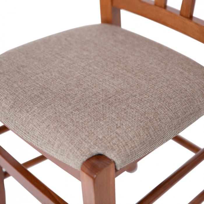 Scaun din lemn Madeira tapitat nuc [8]