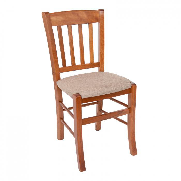 Scaun din lemn Madeira tapitat nuc [0]