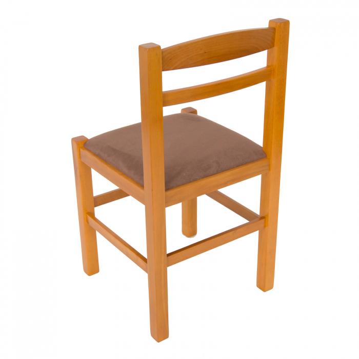 Scaun din lemn Pisa tapitat cires [4]