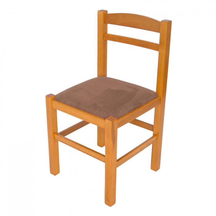 Scaun din lemn Pisa tapitat cires [6]