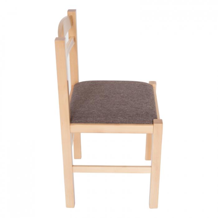 Scaun din lemn Pisa tapitat natur [1]