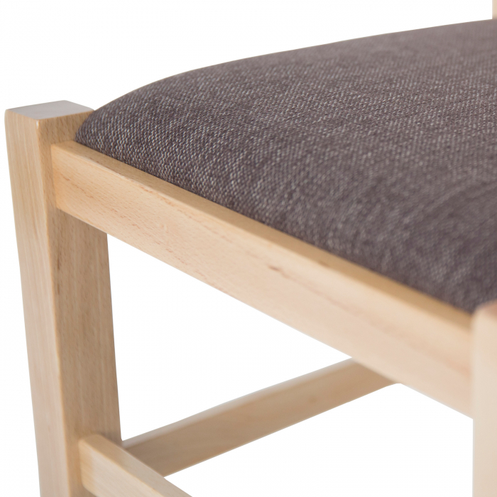 Scaun din lemn Pisa tapitat natur [8]