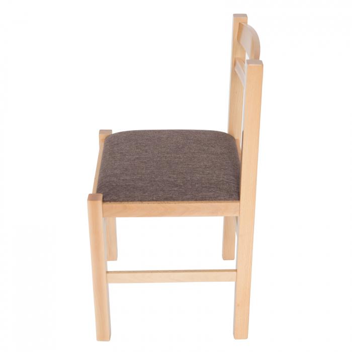 Scaun din lemn Pisa tapitat natur [5]