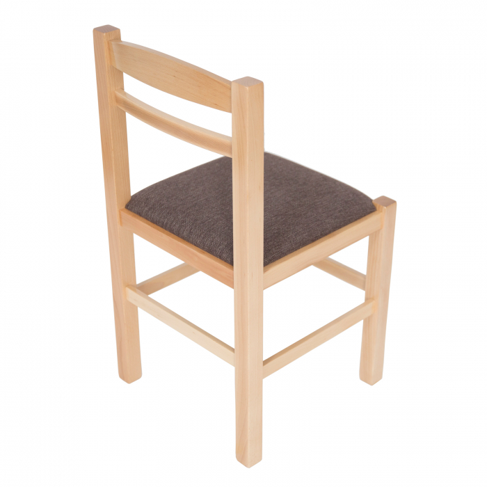 Scaun din lemn Pisa tapitat natur [2]