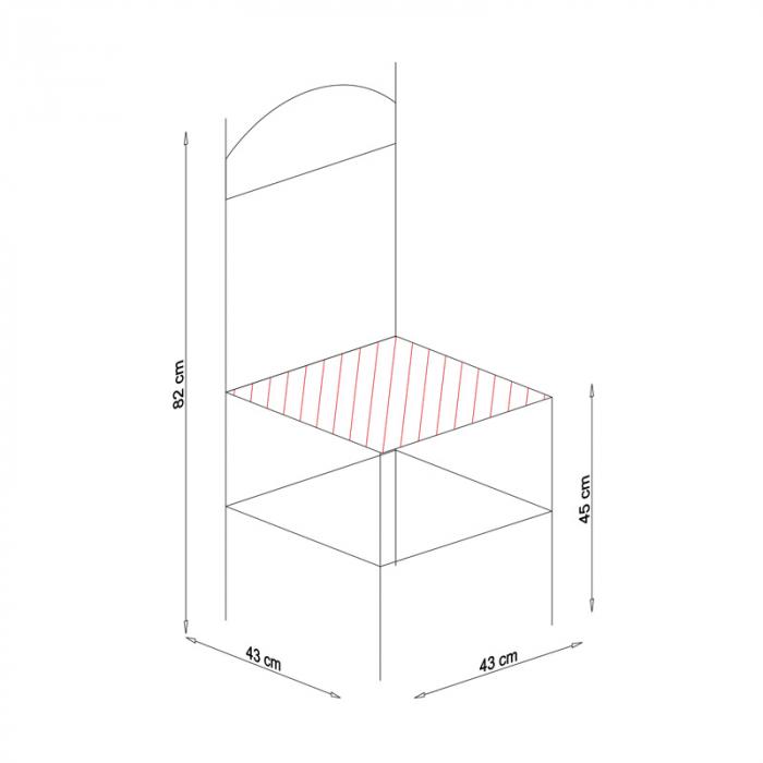 Scaun din lemn Pisa tapitat nuc [9]